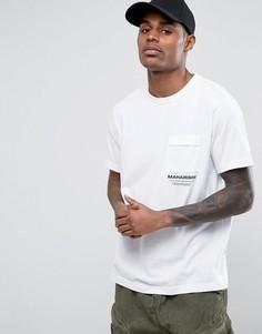 Белая футболка с логотипом Maharishi - Белый