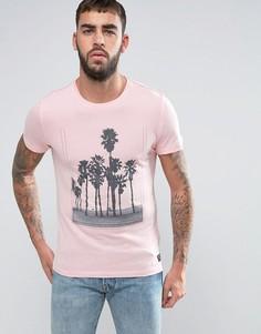 Футболка с принтом пальм Blend - Розовый