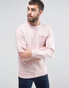 Розовый свитер с карманом Blend - Розовый