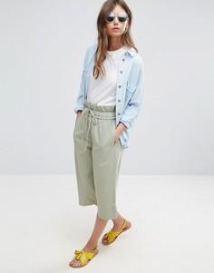 Укороченные брюки-галифе со свободным поясом ASOS - Зеленый