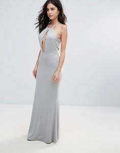 Платье макси с вырезом капелькой Glamorous - Серый