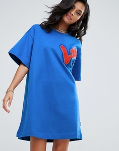 Платье-футболка Love Moschino - Синий