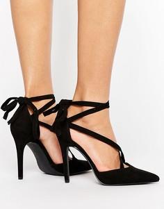Туфли-лодочки на каблуке из искусственной замши New Look - Черный