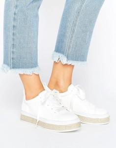 Кроссовки-эспадрильи на шнуровке Truffle Collection - Белый