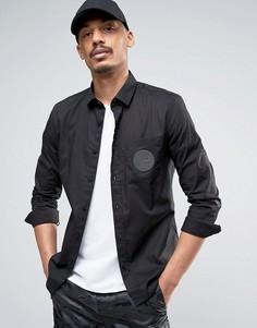 Рубашка с диском на кармане Love Moschino - Черный