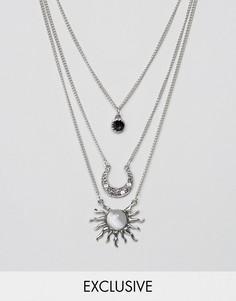 Ярусное ожерелье Reclaimed Vintage Inspired - Серебряный