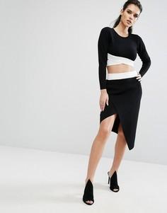 Асимметричная юбка Kendall + Kylie - Мульти