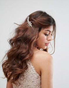 Украшение для волос с жемчугом и листочками True Decadence - Золотой