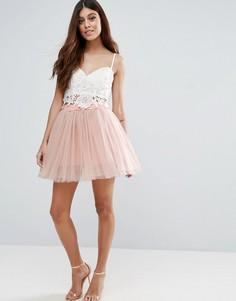Многослойная балетная мини-юбка Rare - Розовый