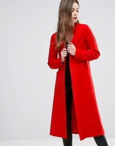 Длинное креповое пальто Helene Berman - Оранжевый