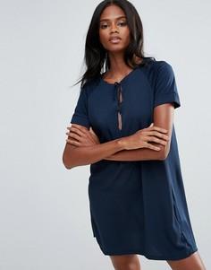 Платье с кисточками First & I - Синий