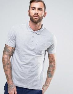 Трикотажная футболка‑поло с карманом Lambretta - Серый