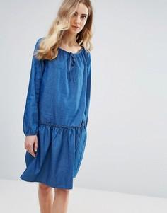 Свободное платье Ichi - Синий