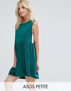 Свободное платье в спортивном стиле ASOS PETITE - Зеленый