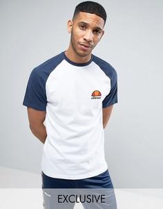 Обтягивающая футболка с рукавами реглан Ellesse - Белый