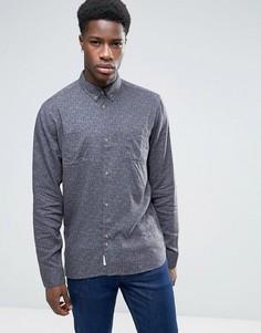 Рубашка из смешанного льна Bellfield - Серый