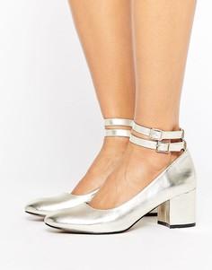 Туфли на среднем каблуке London Rebel - Золотой