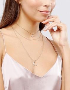 Многорядное ожерелье с чокером и звездой Johnny Loves Rosie - Золотой