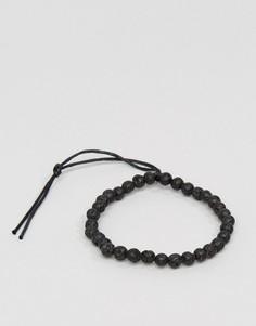 Черный браслет из бусин Jack & Jones Jacbob - Черный