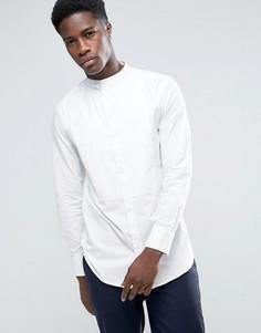 Удлиненная рубашка с воротником на пуговицах Bellfield - Серый