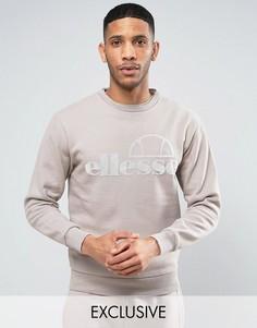 Свитшот с крупным логотипом Ellesse - Светло-серый
