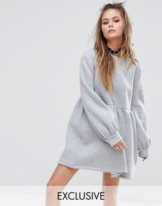 Свободное трикотажное платье Rokoko - Серый