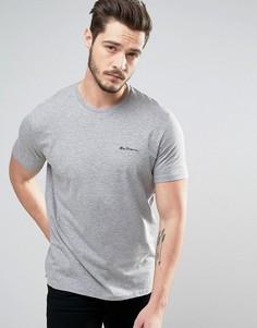 Однотонная футболка Ben Sherman - Серый