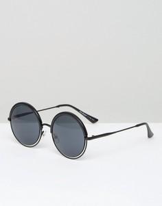 Черные круглые солнцезащитные очки AJ Morgan - Черный