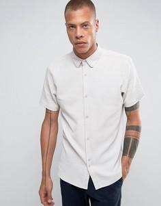 Рубашка из ткани с вафельной текстурой Bellfield - Светло-серый