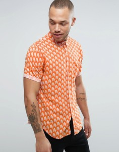 Рубашка с принтом Another Influence - Оранжевый