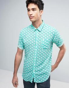 Рубашка с принтом Another Influence - Зеленый