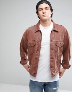 Свободная джинсовая куртка винтажного розового цвета ASOS - Розовый