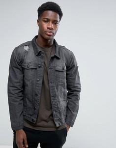 Джинсовая куртка Brave Soul - Серый