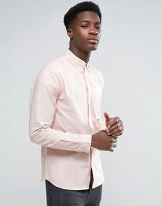 Хлопковая оксфордская рубашка с длинными рукавами D-Struct - Розовый