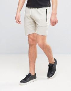 Трикотажные шорты для бега в рубчик D-Struct - Светло-серый