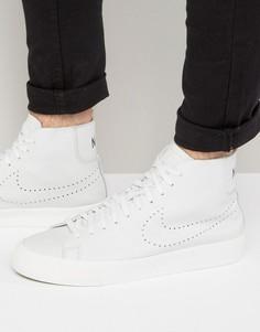 Белые кроссовки средней высоты Nike Blazer Studio 880870-100 - Белый