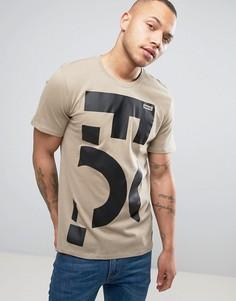 Бежевая футболка Nike F.C 2 847186-235 - Бежевый