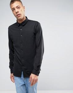Черная трикотажная рубашка с длинными рукавами Lindbergh - Черный