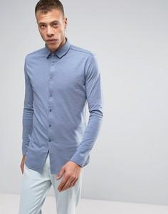 Синяя трикотажная рубашка с длинными рукавами Lindbergh - Синий