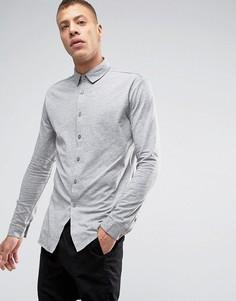 Серая трикотажная рубашка с длинными рукавами Lindbergh - Серый