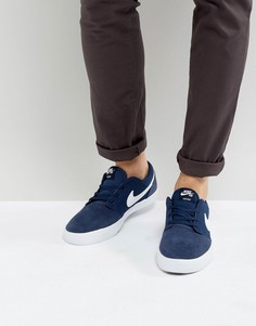 Темно-синие кроссовки Nike SB Portmore II SS 880266-410 - Темно-синий