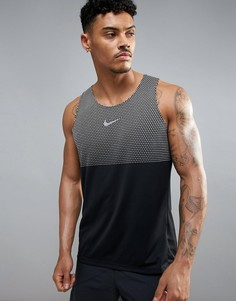 Черная майка Nike Running City Dri-Fit 834246-010 - Черный