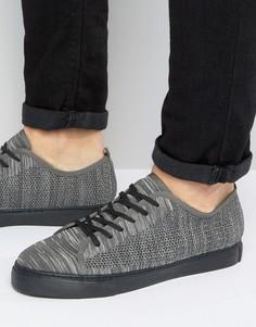 Серые сетчатые кеды со шнуровкой ASOS - Черный