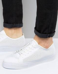 Белые сетчатые кеды со шнуровкой ASOS - Белый