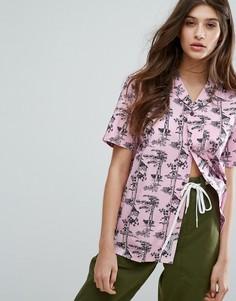 Свободная рубашка с короткими рукавами и гавайским принтом Carhartt WIP - Розовый
