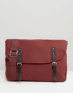 Бордовая парусиновая сумка-сэтчел ASOS - Красный