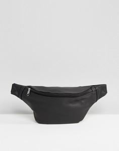Сумка-кошелек на пояс из кожзаменителя ASOS - Черный