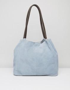 Замшевая сумка без подкладки ASOS - Синий