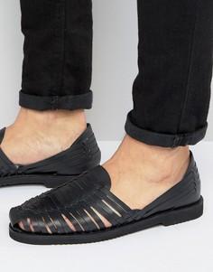 Черные кожаные сандалии KG By Kurt Geiger - Черный