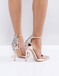 Декорированные туфли на высоком каблуке ASOS PALAIS - Золотой